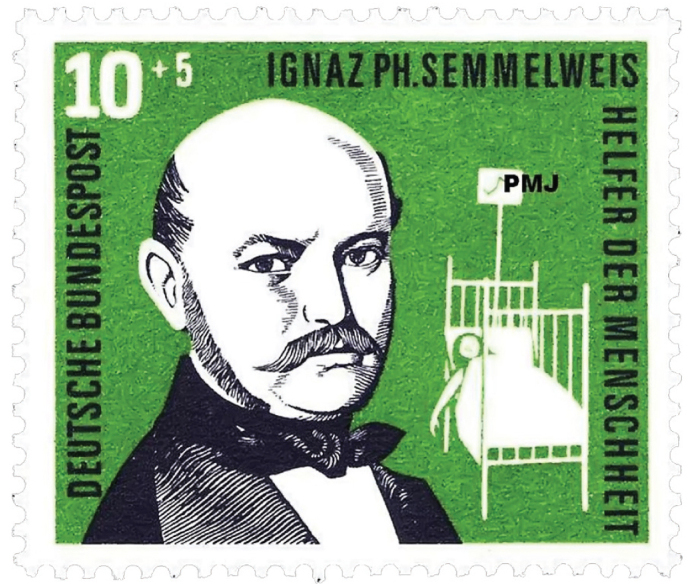 Semmelweis memorial stamp from Germany