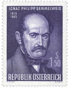 Semmelweis memorial stamp from Austria