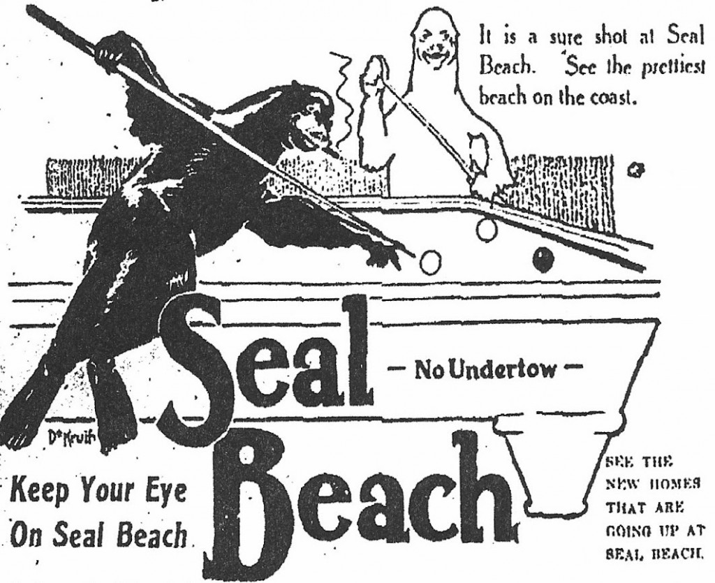 A 1914 advertisement for Seal Beach, via Historical Seal Beach.