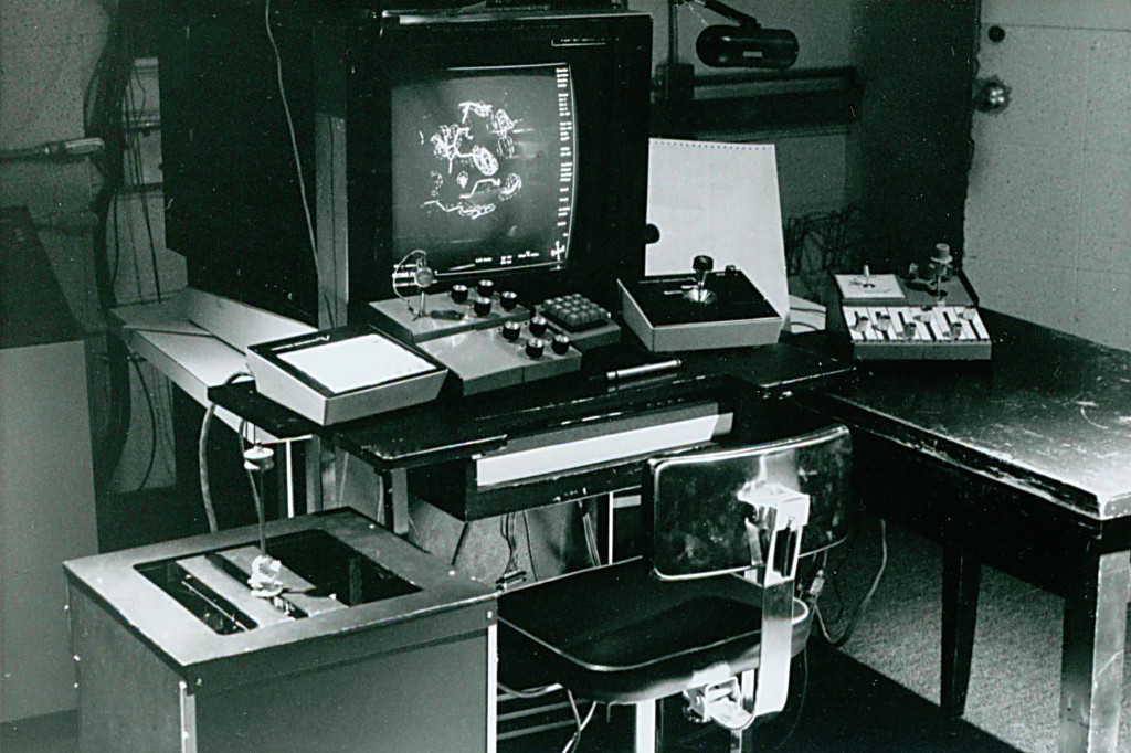 Computer graphics console  in the early 1970s.
