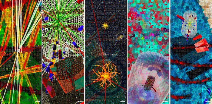 "Images © Xavier Cortada (with the participation of physicist Pete Markowitz), ""In search of the Higgs boson"", 2013."