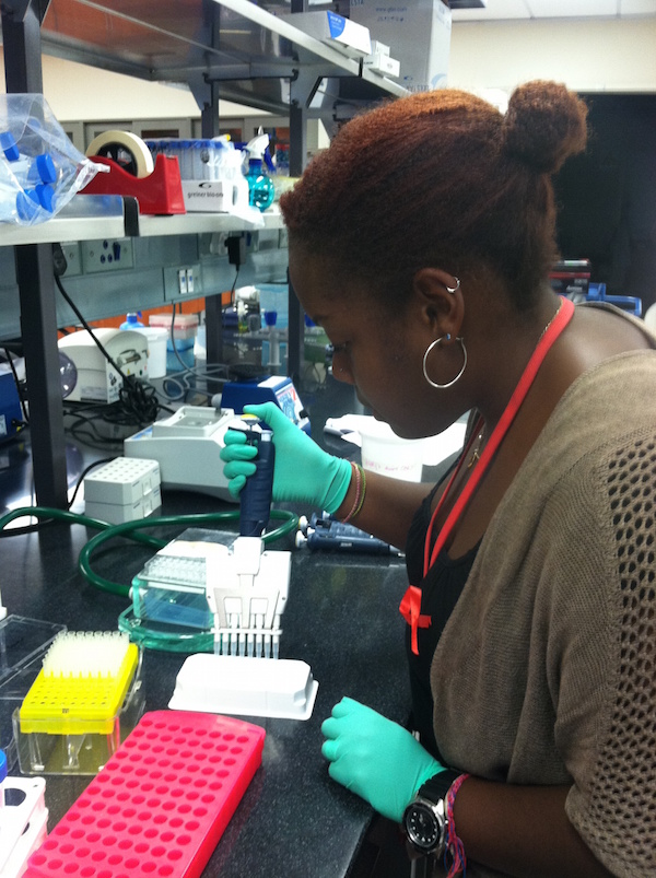The author at work in the lab at K-RITH.