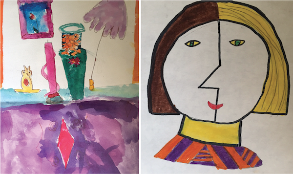 Highlights from the author's childhood art career