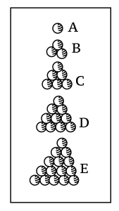 Kepler's drawing of packing spheres
